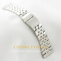 Для часов браслет Breitling silver 26мм (05750)
