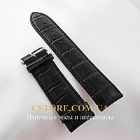 Кожаный ремешок для часов Vacheron Constantin (24 мм) черный (05778)