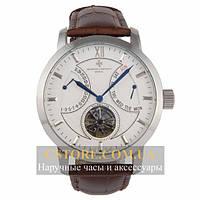 Мужские наручные механические часы Vacheron Constantin patrimony silver white (05801)