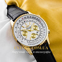 Мужские часы Швейцарские Breitling Chronometre Navitimer gold white