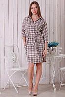 Стильное платье в модную клетку