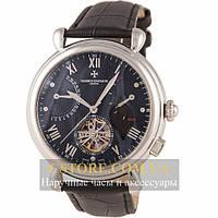 Мужские наручные часы Vacheron Constantin silver black (05817)