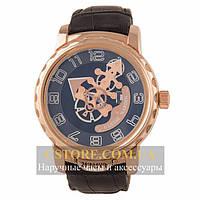 Механические мужские часы элегантные Ulysse Nardin Freak gold black