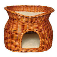 Дом плетёный для котов Trixie двух ярусный, 50 см