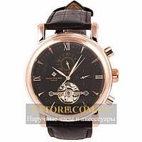 Мужские наручные часы Patek Philippe geneve gold black (05830)