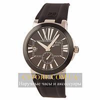 Мужские часы Швейцарские Ulysse Nardin Dual Time black black