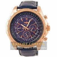 Мужские наручные часы Breitling for bentley gold blue (05833)