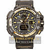Мужские наручные часы Casio g-shock gwa-1100 gold black (05850)