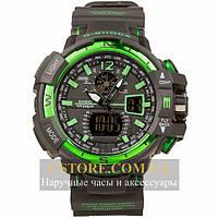 Мужские наручные часы Casio g-shock gwa-1100 green black (05849)