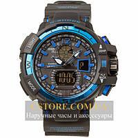 Кварцевые мужские часы Бельгийские Casio G-Shock GWA-1100 blue black