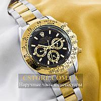 Механические мужские часы Швейцарские Rolex Cosmograph Daytona silver gold (05922)