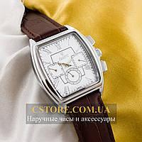 Мужские наручные часы Российской сборки Рекорд silver white (05940)