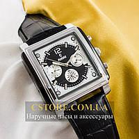 Мужские механические наручные часы Российской сборки Рекорд silver black (05941)
