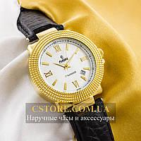 Мужские механические наручные часы Российской сборки Рекорд gold white (05943)