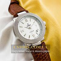 Мужские механические наручные часы Российской сборки Рекорд brown silver white (05945)