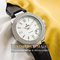 Мужские механические наручные часы Российской сборки Рекорд black silver white (05946)