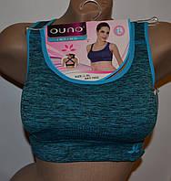 Топ для фитнеса Ouno (7052) голубой L-XL спинка крест A-B-C