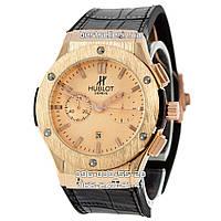 Часы Hublot 1064 (Кварц) Gold/Black (UNISEX). Реплика, фото 1