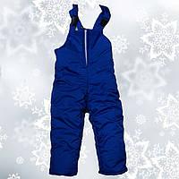 Зимний полукомбинезон на мальчика на флисе blue (2-5 лет)