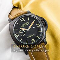 Наручные мужские часы Бельгийской сборки Panerai Luminor Marina black black (05957)