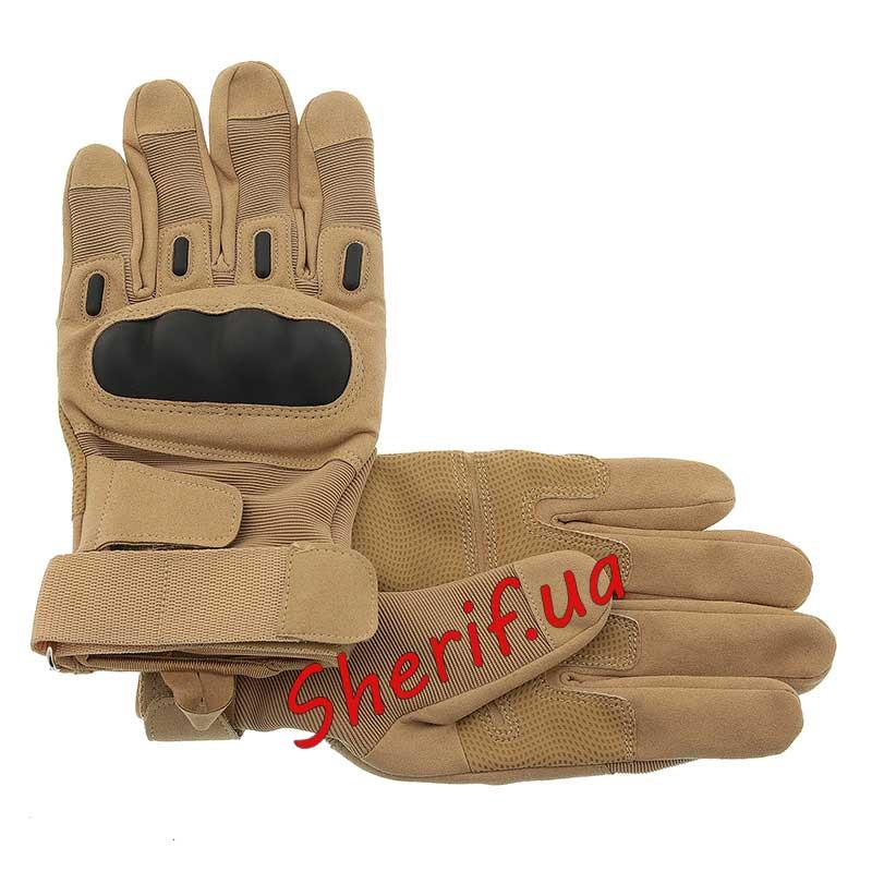 Перчатки тактический полнопалые с защитой костяшек Blackhawk  Tan 5886