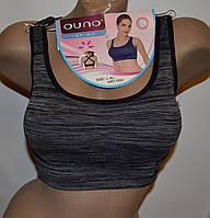 Топ для фитнеса Ouno (7052) черный L-XL спинка крест A-B-C