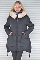 Модные ассиметричные синтепоновые зимние куртки