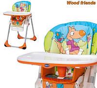 Стульчик для кормления Chicco Polly 2 in 1 Wood Friends
