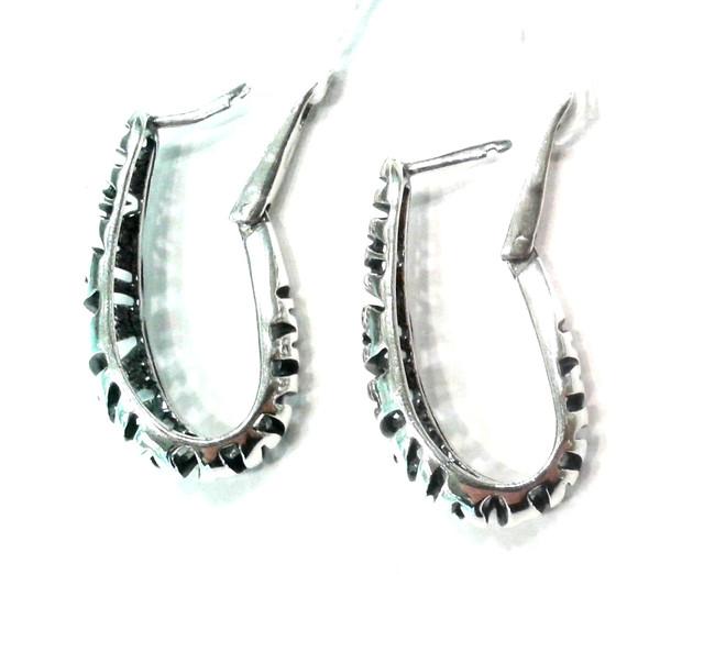 Серебряные серьги без камней Саванна