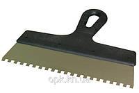 Шпатель зубчатый (200 мм, зубья  6х6 мм)
