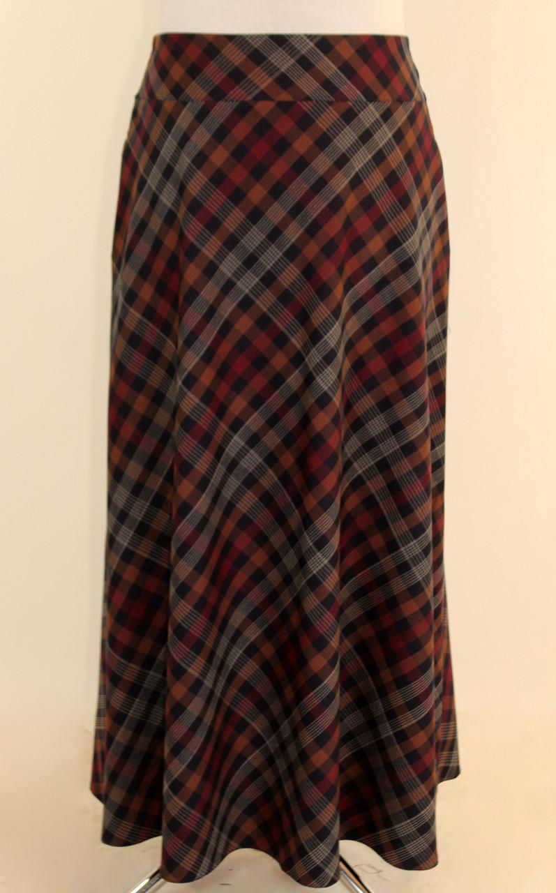 Длинная зимняя юбка 44-52 р