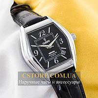 Мужские механические наручные часы Российской сборки Рекорд silver black (06142)