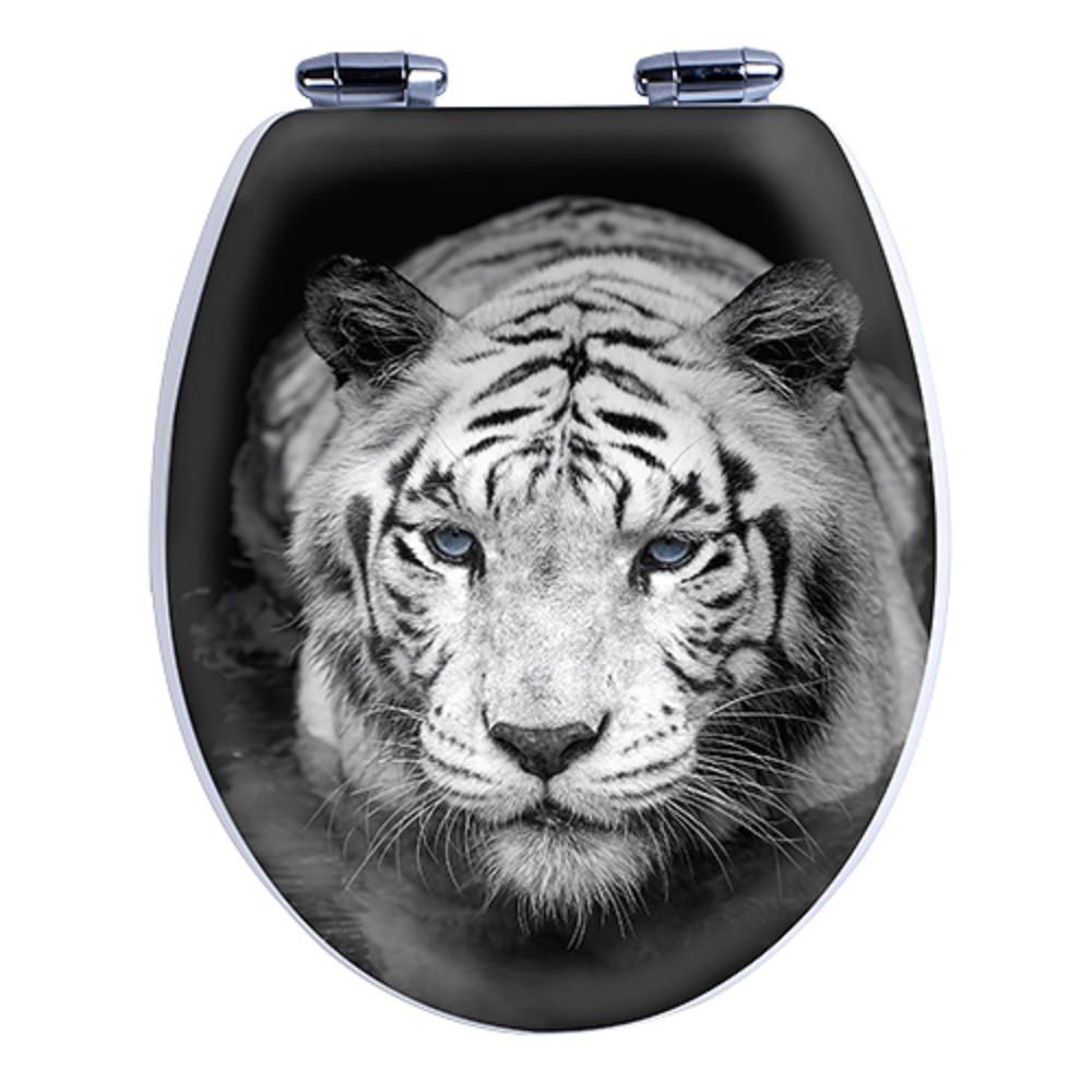 Крышка для унитаза с микролифтом Tiger 3D AWD02181207