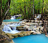 "Фотообои ""Водопад в голубую реку"""