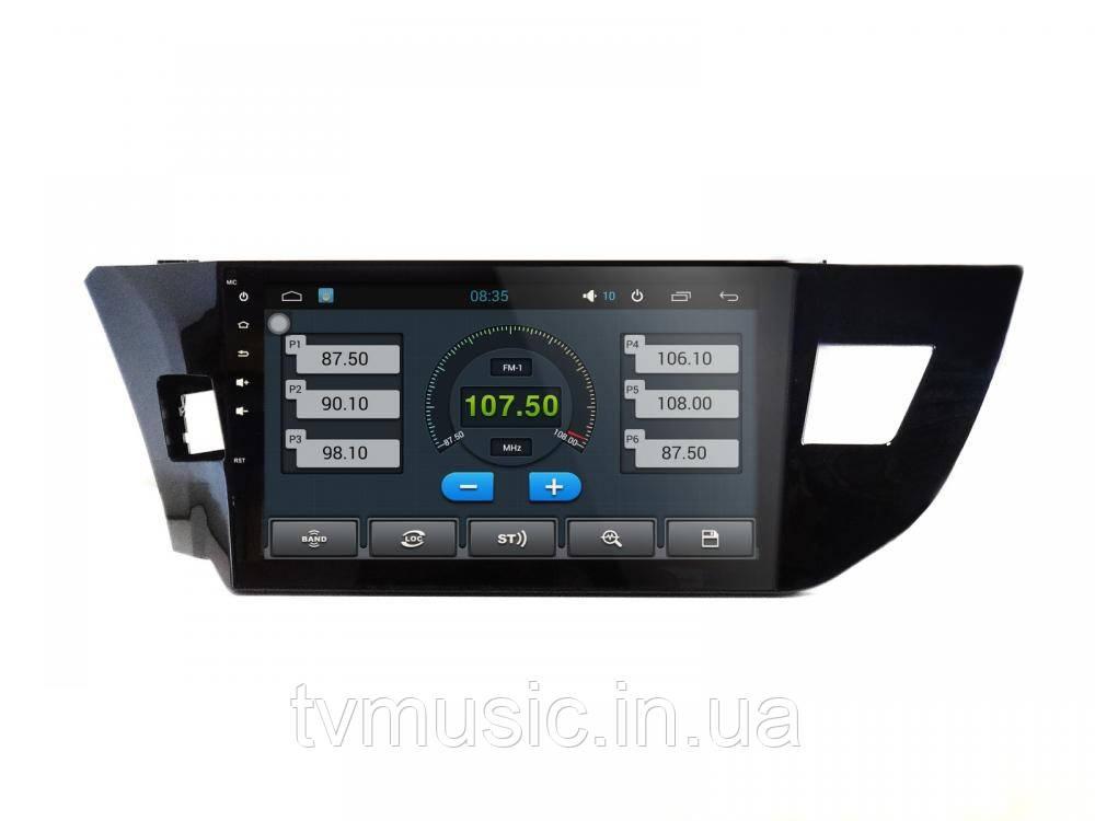 Штатная автомагнитола EasyGo A230 (Toyota Corolla 2014+) - Интернет магазин TVMusic в Луцке
