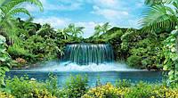 """Фотообои """"Водопад в джунглях"""" под индивидуальный размер"""