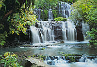 """Фотообои """"Водопад в лесу"""" под индивидуальный размер"""