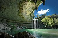"""Фотообои """"Водопад в пещерах"""" под индивидуальный размер"""