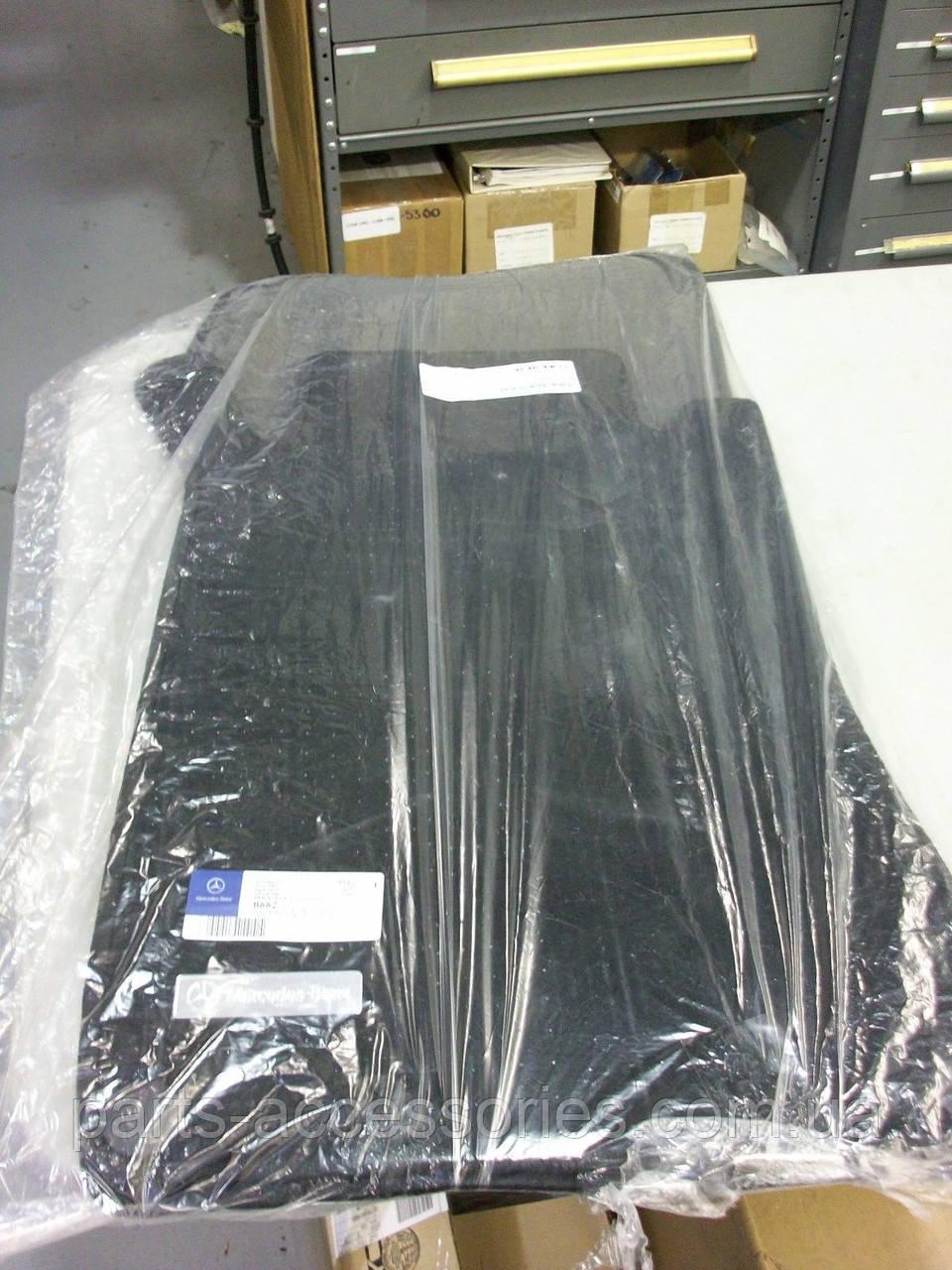 Коврики велюровые черные Mercedes CLK CLK-Class W209 Cabrio Convertible 2004-09 новые оригинал