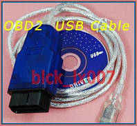 OBD 2 USB диагностика АВТО kkl + DVD soft