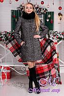Женское зимнее пальто с мехом р. S, M, L арт. Фортуна лайт букле песец 7769