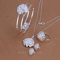 Набор Роза покрытие 925 серебро проба 5 предметов