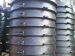 Люк канализационный пластиковый с замком d620 (1,5т черный)