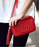 Женская сумка в стиле GUCCI SOHO DISCO RED BAG (3440), фото 1