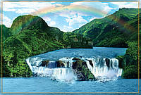 "Фотообои ""Водопад на реке"" под индивидуальный размер"