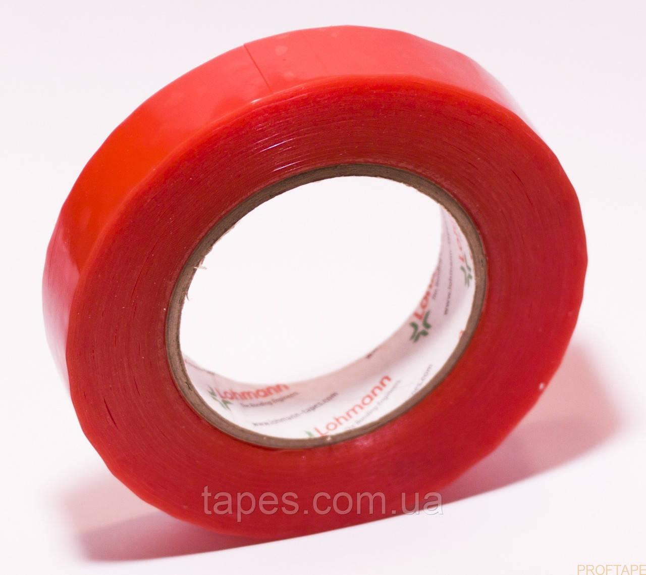 Двухсторонняя прозрачная, не деформируемая монтажная лента (скотч) Lohmann Duplocoll 377, 9мм х 50м х 0,28 мм