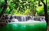"""Фотообои """"Водопади зеленое озеро"""""""