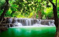 """Фотообои """"Водопади зеленое озеро"""" под индивидуальный размер"""
