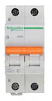 Автоматический выключатель SCHNEIDER ВА63 1P+N 10A C