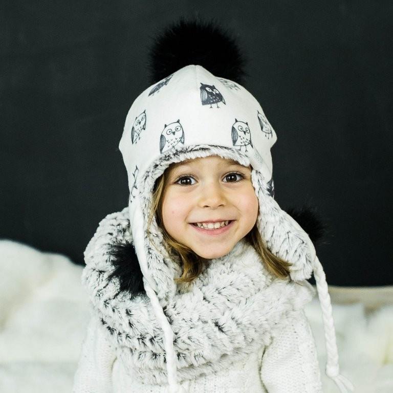 Детская зимняя шапка (набор) для девочек СОЛАР  оптом размер 48-50-52